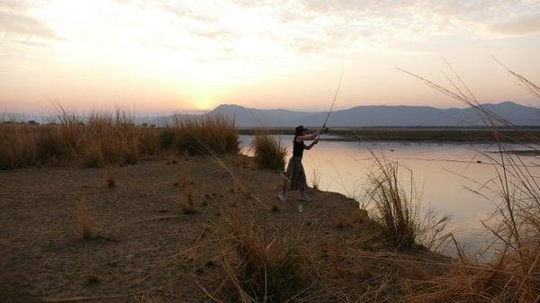 Ella Dow fishing