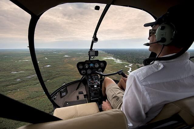 Linyanti Bush Camp Botswana - Luxury Safari Lodge - View of Chobe Enclave by Helicopter