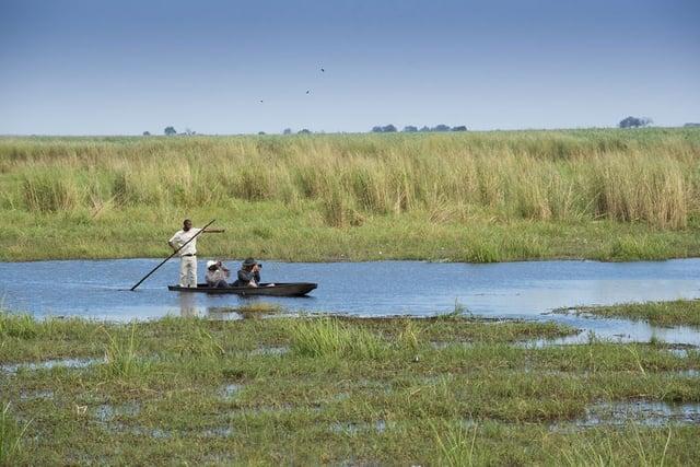 A mokoro on the Chobe Enclave, Botswana