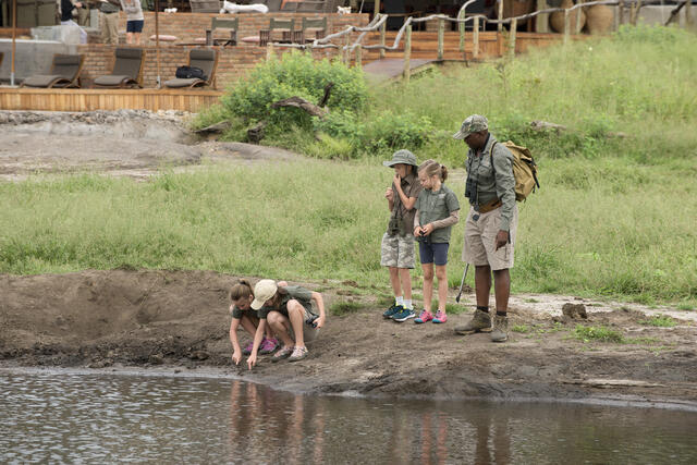Somalisa Acacia Hwange National Park Zimbabwe Luxury Safari Camp African Bush Camps Children Walking Safari (3)-1