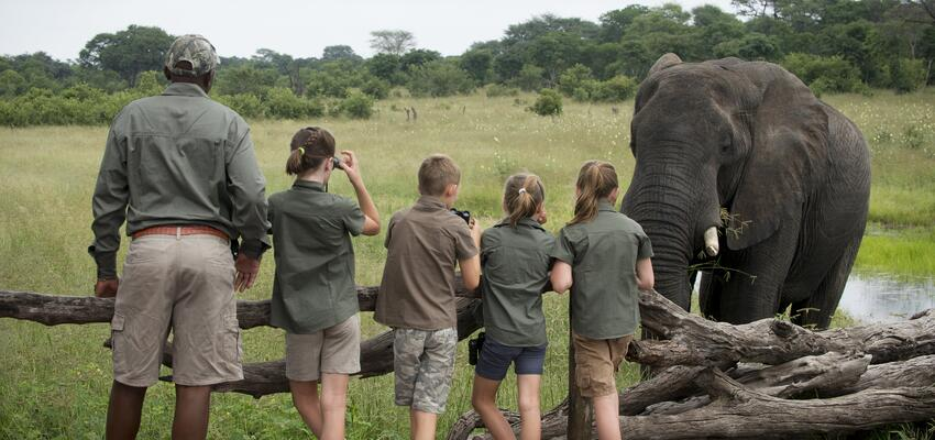 Somalisa Acacia Hwange National Park Zimbabwe Luxury Safari Camp African Bush Camps Children close encounters with elephants (14)-190303-edited